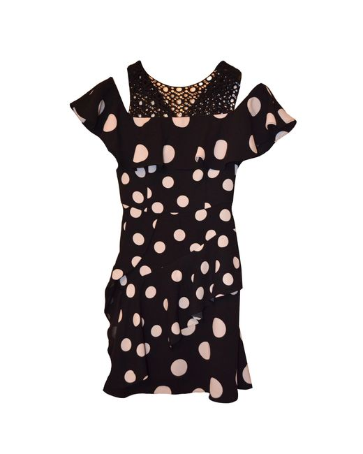 Robe courte viscose noir Karen Millen en coloris Black