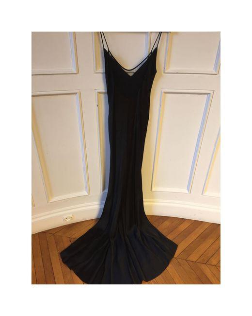 Robe longue rayon noir John Galliano en coloris Black