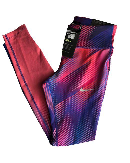 Pantalon de fitness polyester rose Nike en coloris Pink