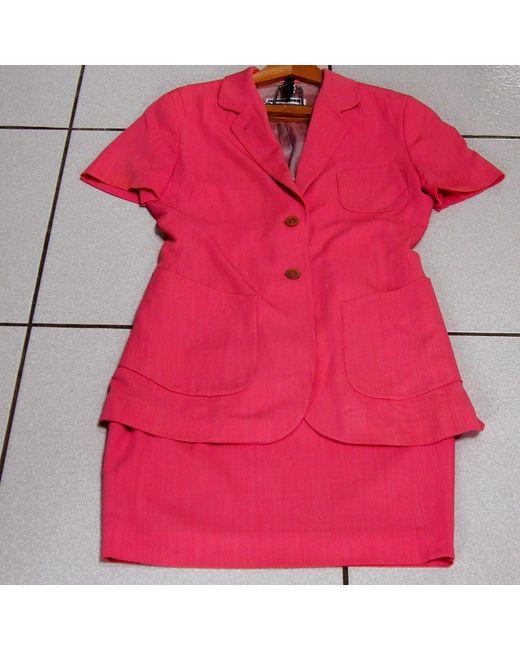 Tailleur jupe laine mélangée rose Jil Sander en coloris Pink