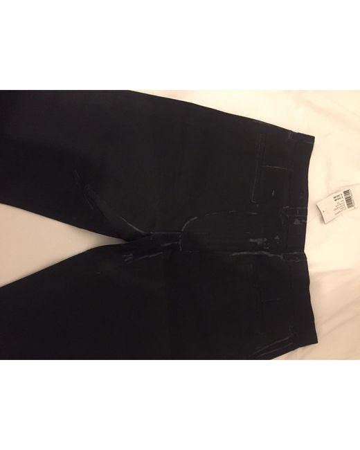 Jeans droit cuir verni noir Joseph en coloris Black