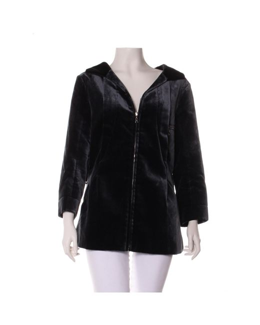 Manteau coton noir Louis Vuitton en coloris Black