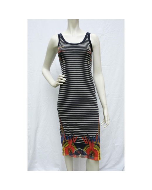 Robe mi-longue polyamide multicolore Jean Paul Gaultier