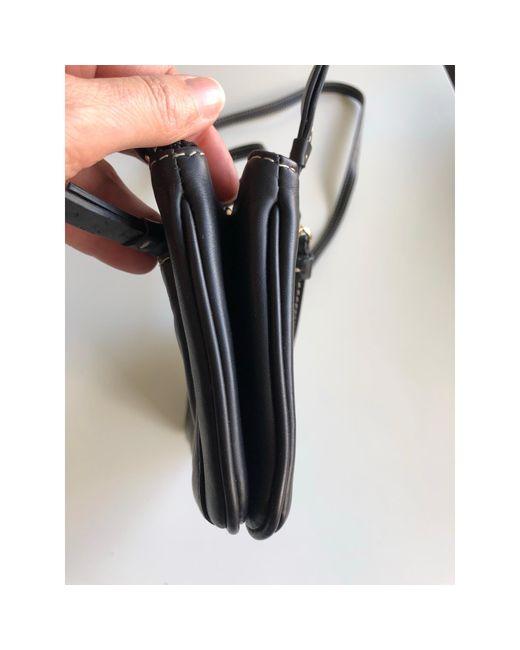 Sac pochette en cuir cuir noir Lancel en coloris Black