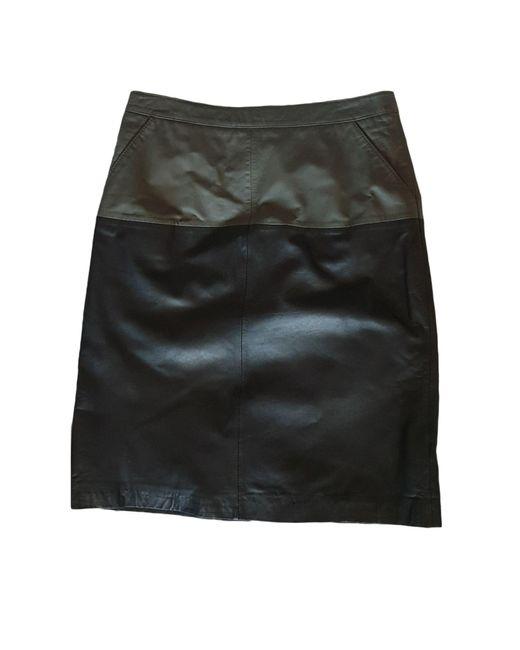 Jupe mi-longue cuir multicolore Gerard Darel