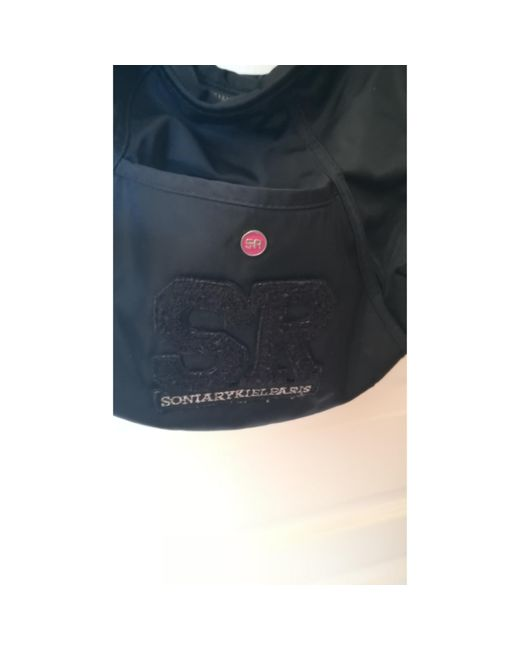 Sac en bandoulière en tissu tissu noir Sonia Rykiel en coloris Black