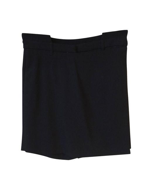 Bermuda laine noir Givenchy en coloris Black