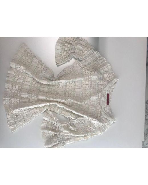 Blouse polyamide blanc Carolina Herrera en coloris White