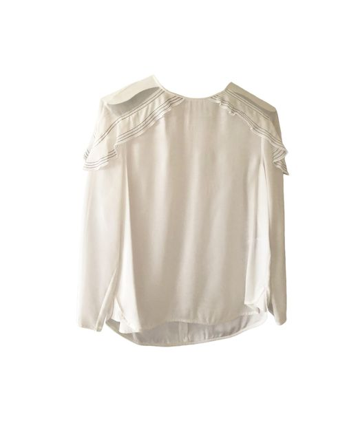 Blouse viscose blanc Sandro en coloris White