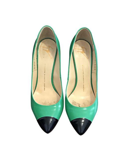 Escarpins cuir vert Giuseppe Zanotti en coloris Green