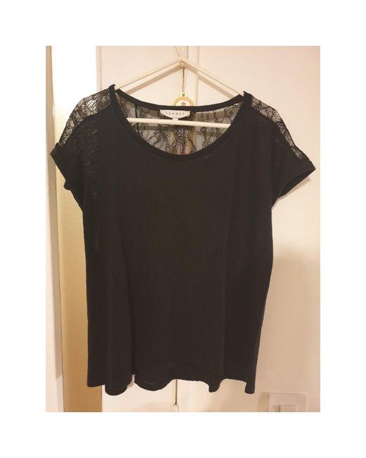 Top, tee-shirt polyamide noir Sandro en coloris Black