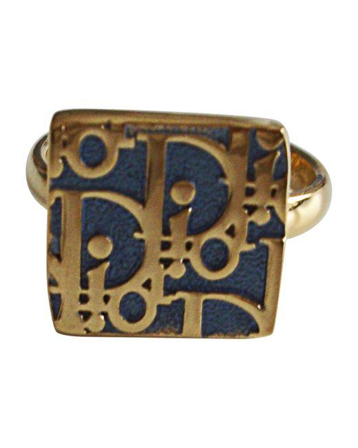 Bague plaqué or doré Dior en coloris Metallic