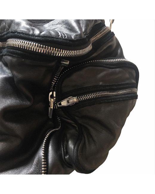 Sac en bandoulière en cuir cuir noir Alexander Wang en coloris Black