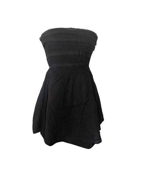 Robe bustier coton noir Maje en coloris Black