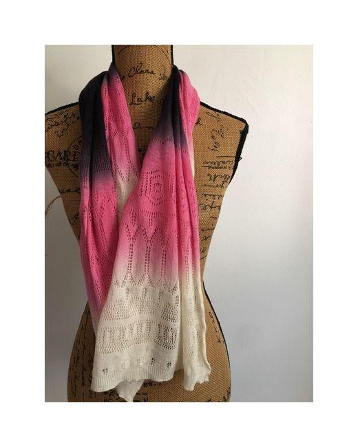 Echarpe lin rose Sandro en coloris Pink