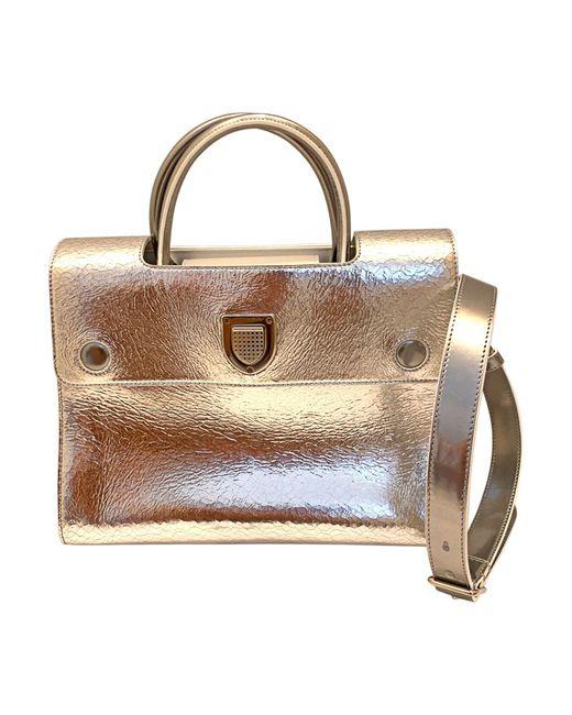 Sac à main en cuir cuir EVER argent Dior en coloris Metallic