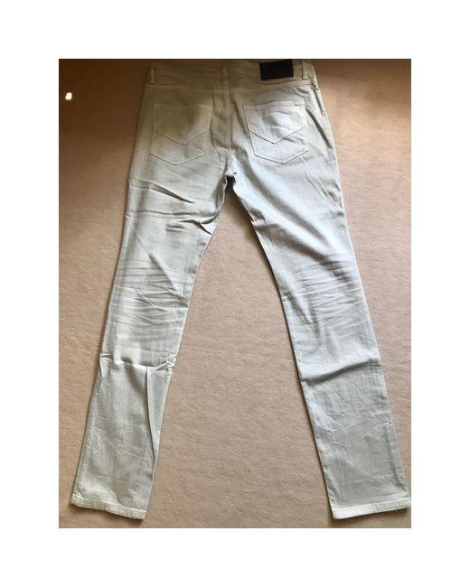 Zadig & Voltaire Jeans slim coton gris homme