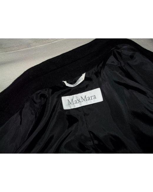 Manteau laine mélangée noir Max Mara en coloris Black