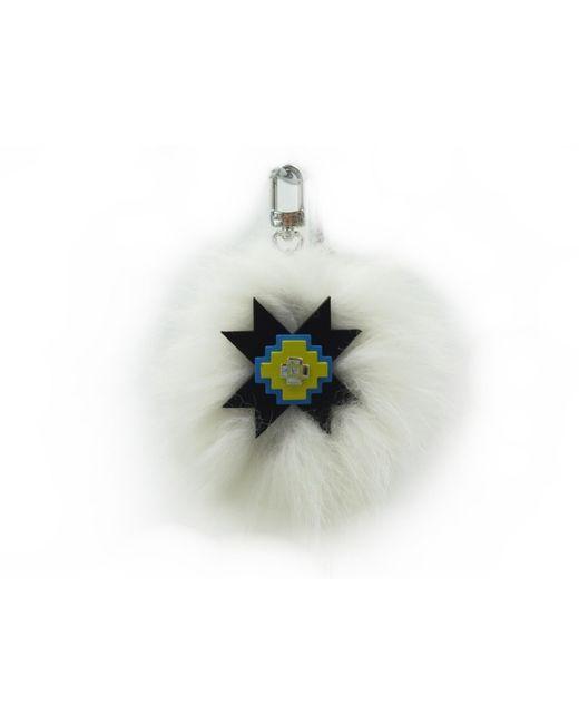 Porte-clés fourrure lapin blanc Louis Vuitton en coloris White