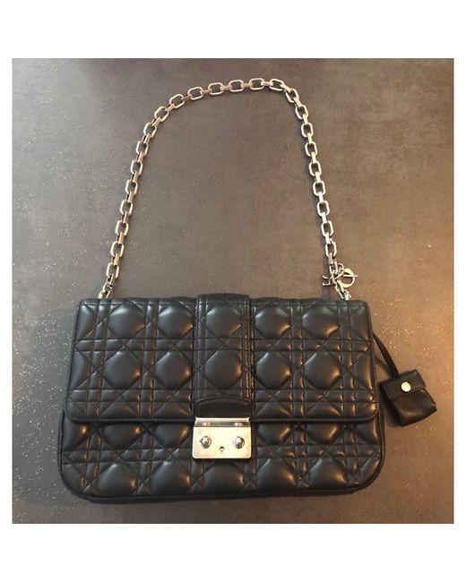 Sac à main en cuir cuir MISS noir Dior en coloris Black