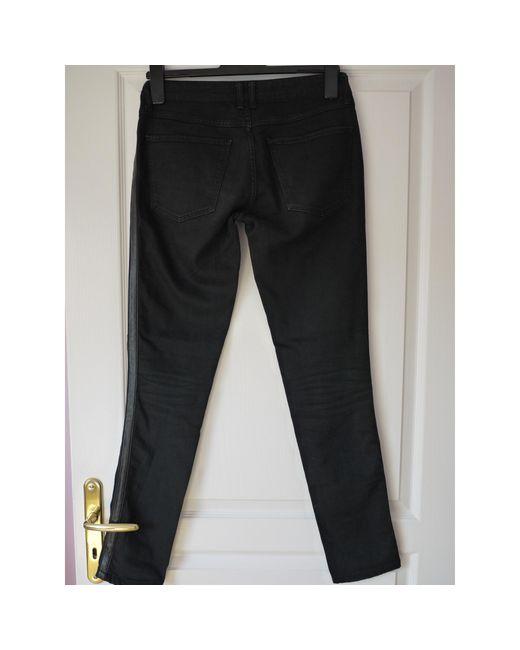 Sandro Jeans droit coton noir femme
