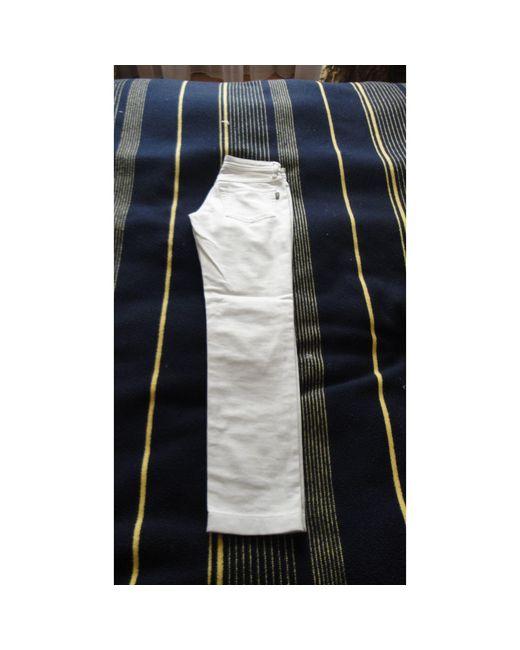 Dolce & Gabbana Jeans droit denim, jean blanc femme