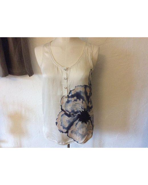 Débardeur soie blanc Diane von Furstenberg en coloris White