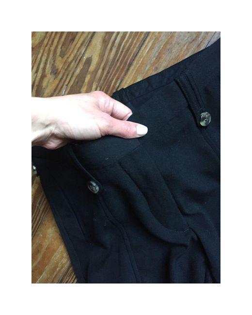 Dries Van Noten Pantalon droit laine noir femme