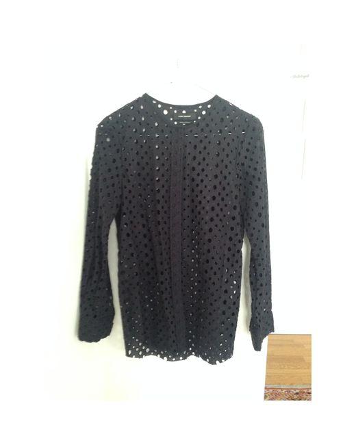 Chemisier coton noir Isabel Marant en coloris Black