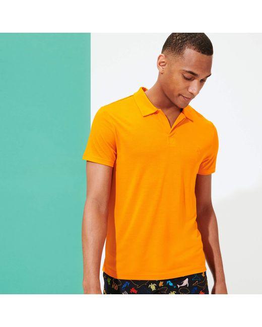 Vilebrequin Orange Polo Shirt Solid for men
