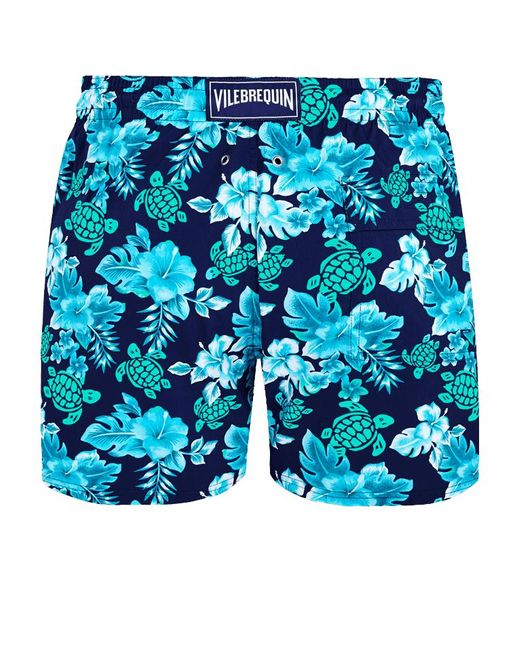 Vilebrequin Men's Blue Swimwear Stretch Turtles Flowers