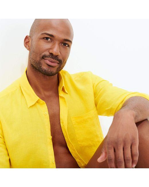 Vilebrequin Yellow Shirt for men