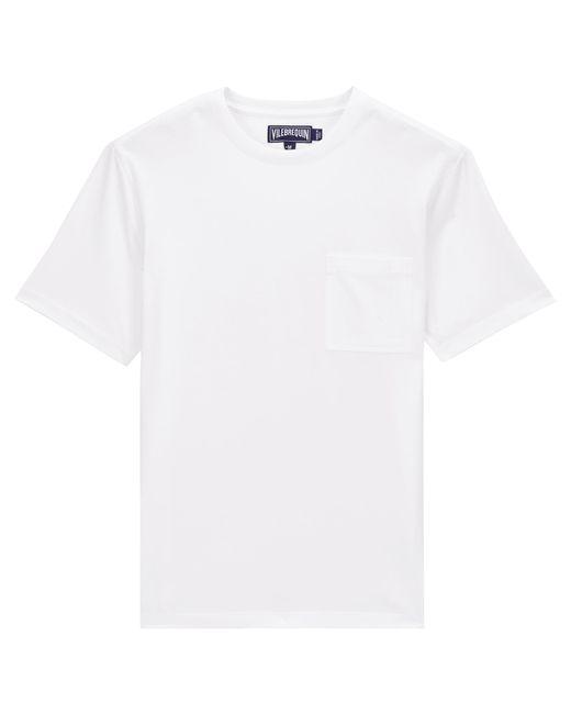 T-shirt Uomo In Jersey Di Cotone Pima Tinta Unita - T-shirt - Teegus di Vilebrequin in White da Uomo