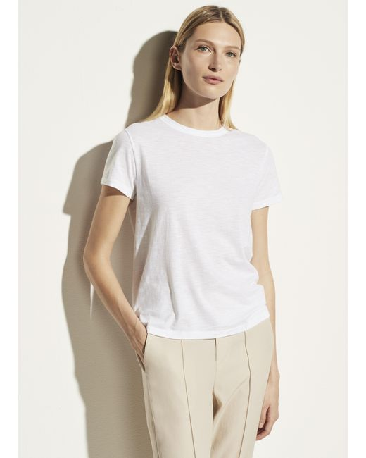 Vince White Short Sleeve Relaxed Tee