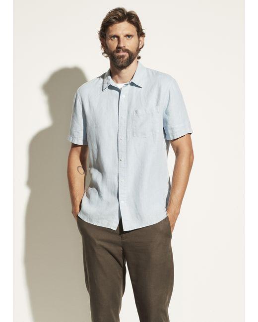 Vince Blue Linen Short Sleeve