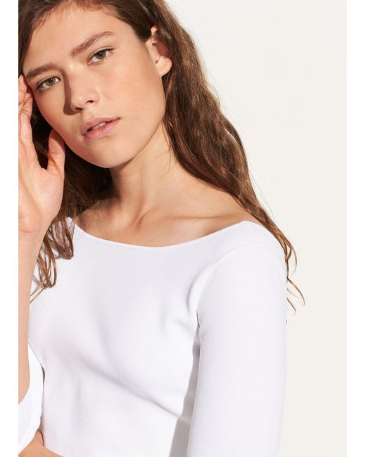 Vince - White U-back Long Sleeve - Lyst