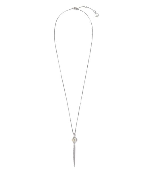 Vince Camuto | Metallic Faux Pearl Jeweled Spear Necklace | Lyst