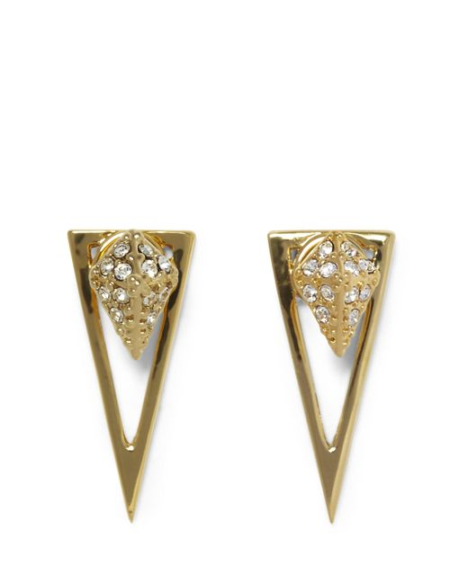 Vince Camuto | Metallic Goldtone Drop-back Triangle Earrings | Lyst