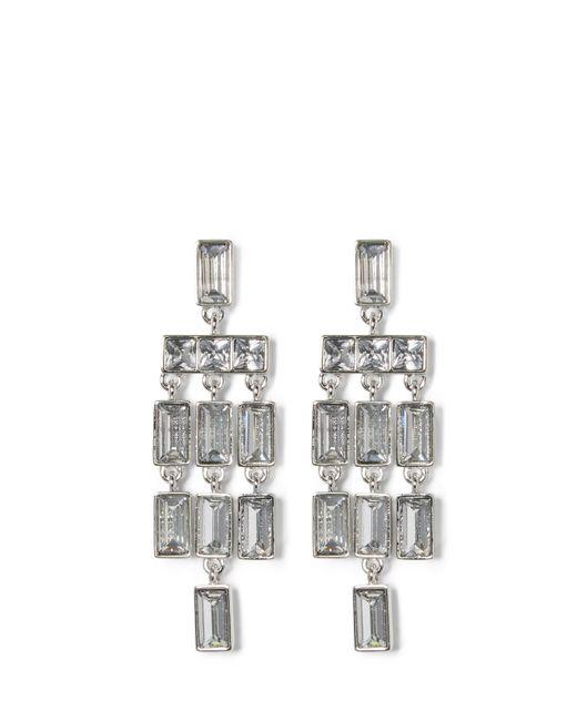 Vince Camuto | Metallic Silvertone Jeweled Chandelier Earrings | Lyst