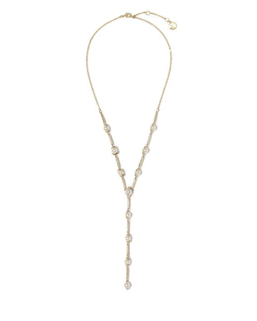 Vince Camuto - Metallic Faux Pearl Y-necklace - Lyst