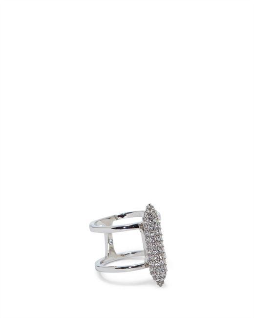 Vince Camuto - Metallic Silvertone Pavé Column Ring - Lyst