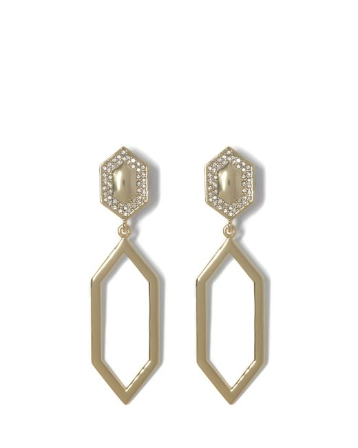 Vince Camuto - Metallic Goldtone Geo Drop Clip-on Earrings - Lyst