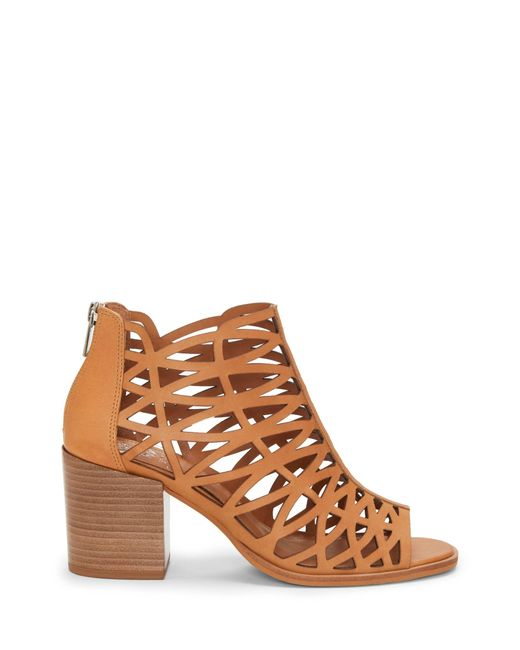 a8cb70fadff9 Vince Camuto - Brown Kevston – Cutout Sandal - Lyst ...