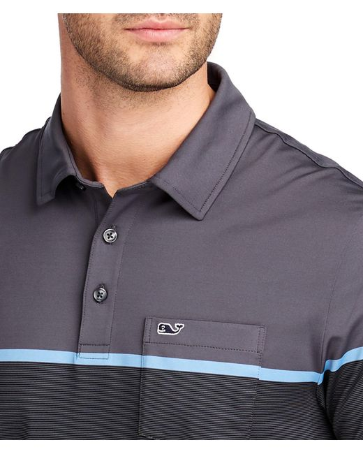 9dc4eb45d7 ... Vineyard Vines - Multicolor Caneel Bay Striped Bowline Fit Polo for Men  - Lyst