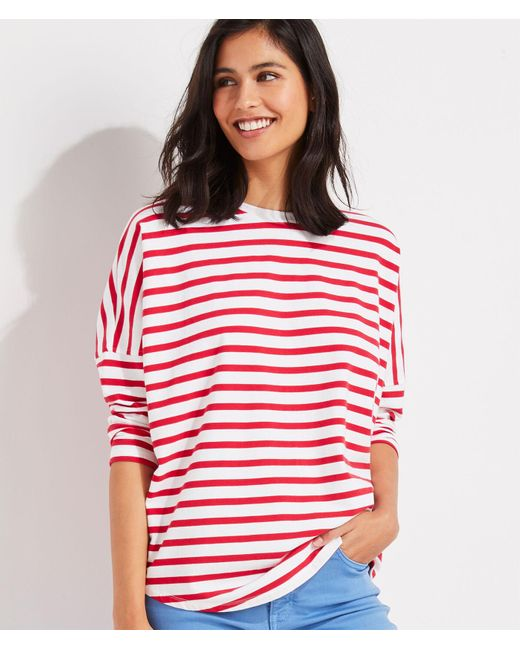 Vineyard Vines Red Striped Deluxe T-shirt