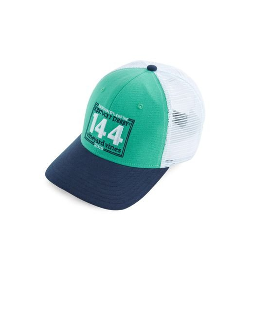 Vineyard Vines - Green Kentucky Derby 144 Stamp Trucker Hat for Men - Lyst