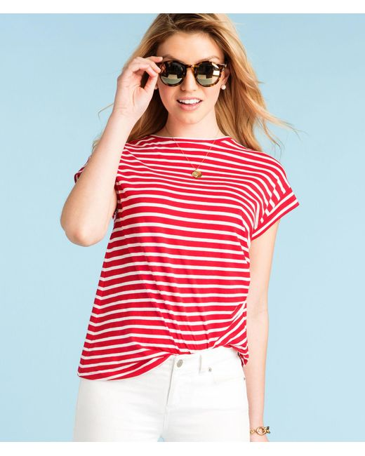 Vineyard Vines - Red Short-sleeve Nautical Stripe Tee - Lyst