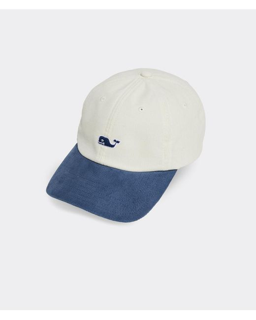 Vineyard Vines Blue Classic Corduroy Baseball Hat for men