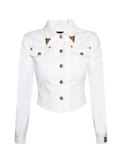 Versace Jeans White Denim Jacket