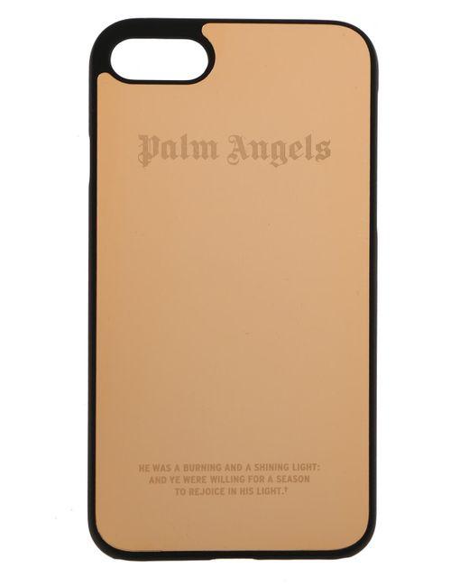 Gold Metallic Logo iPhone 7 Case Palm Angels MOJvs6E4